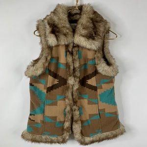 Tasha Polizzi Collection Southwestern Vest Small